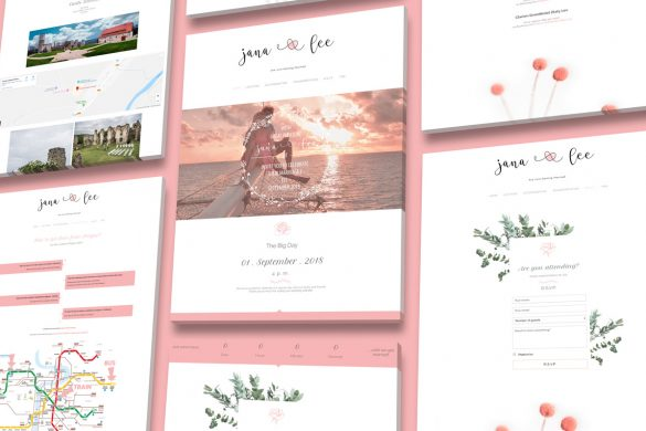weddin website design